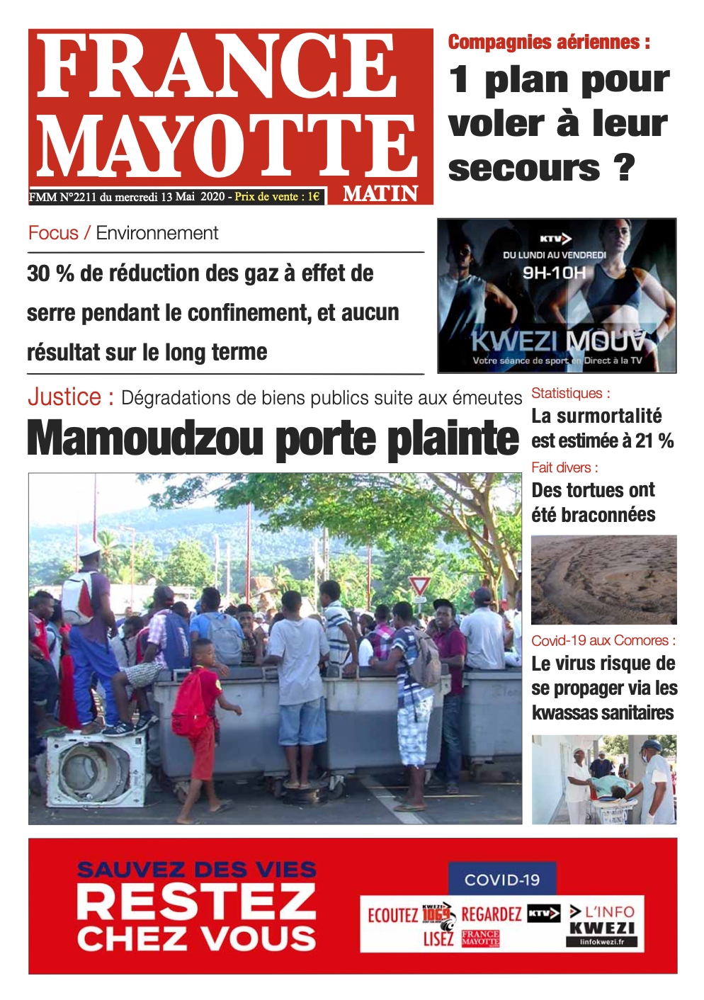 France Mayotte Mercredi 13 mai 2020