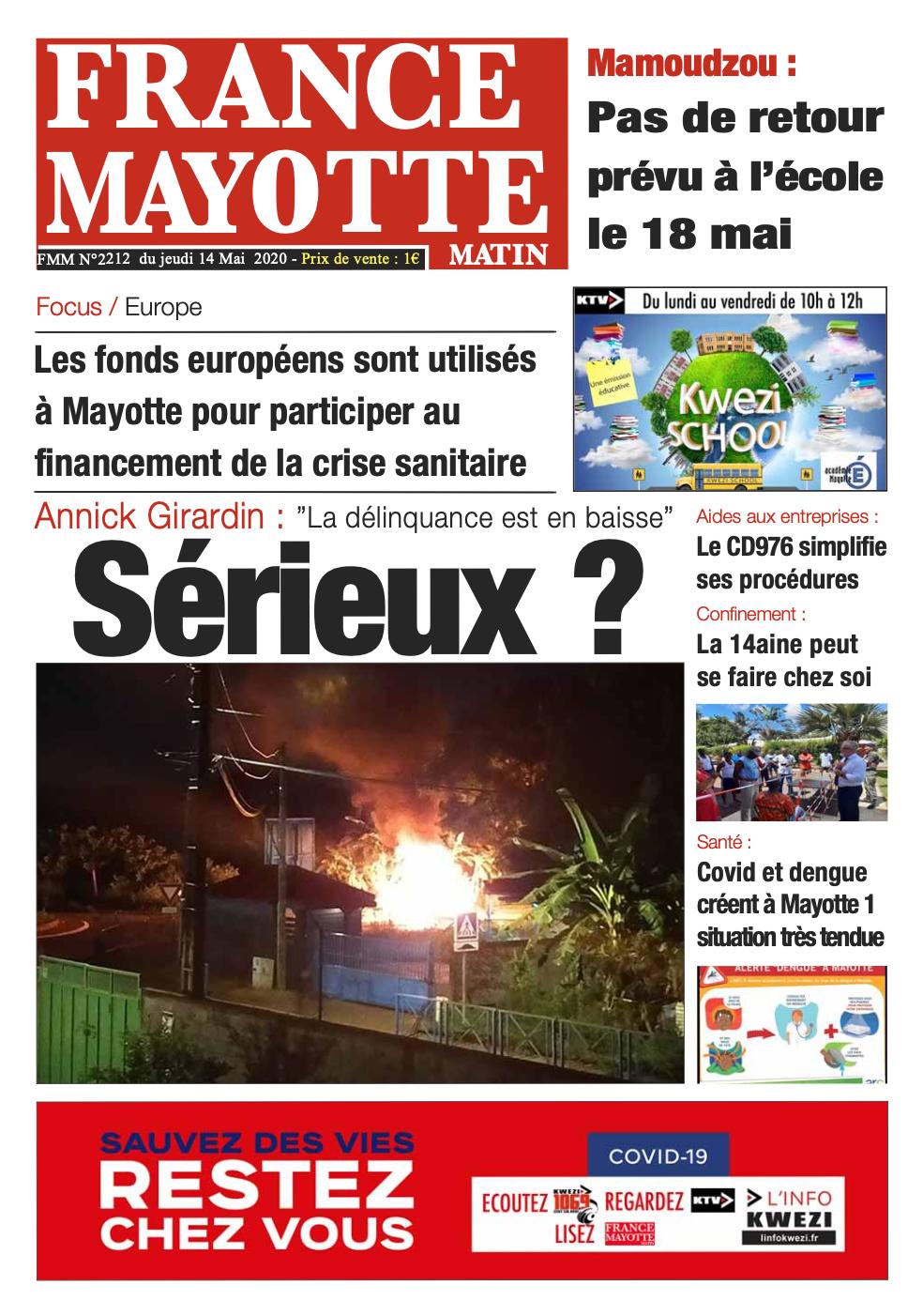 France Mayotte Lundi 18 mai 2020
