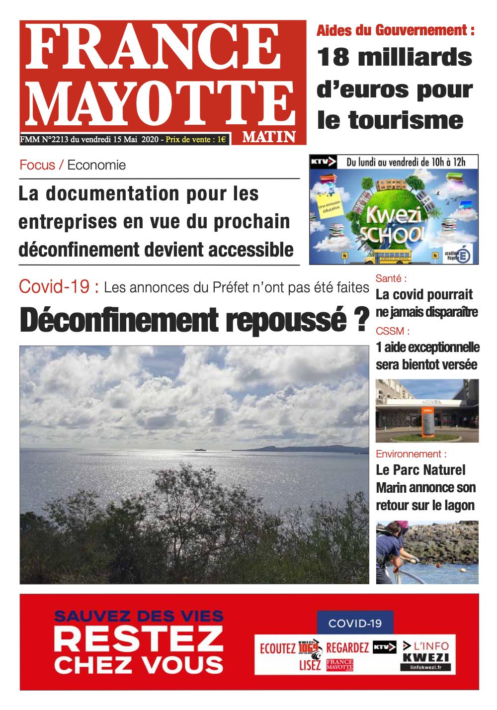 France Mayotte Vendredi 15 mai 2020