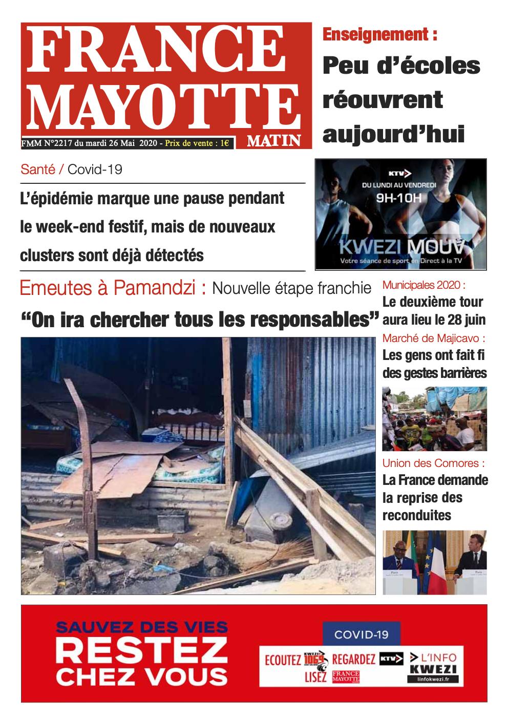 France Mayotte Mardi 26 mai 2020