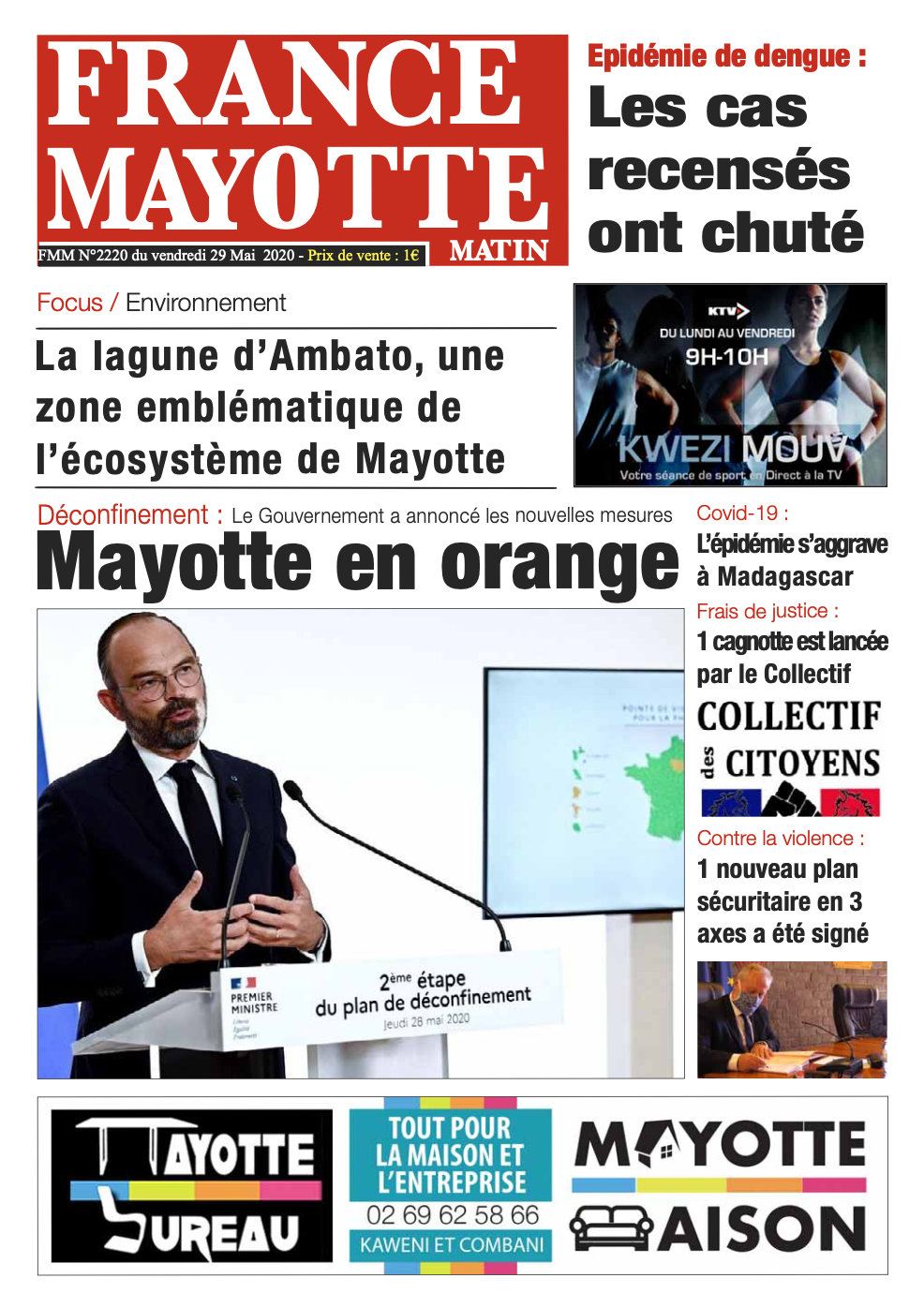 France Mayotte Vendredi 29 mai 2020