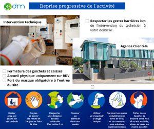 EDM : reprise progressive des interventions pour les raccordements