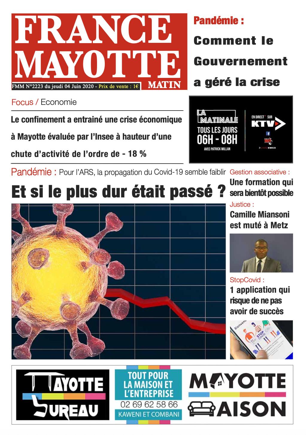 France Mayotte Jeudi 4 juin 2020