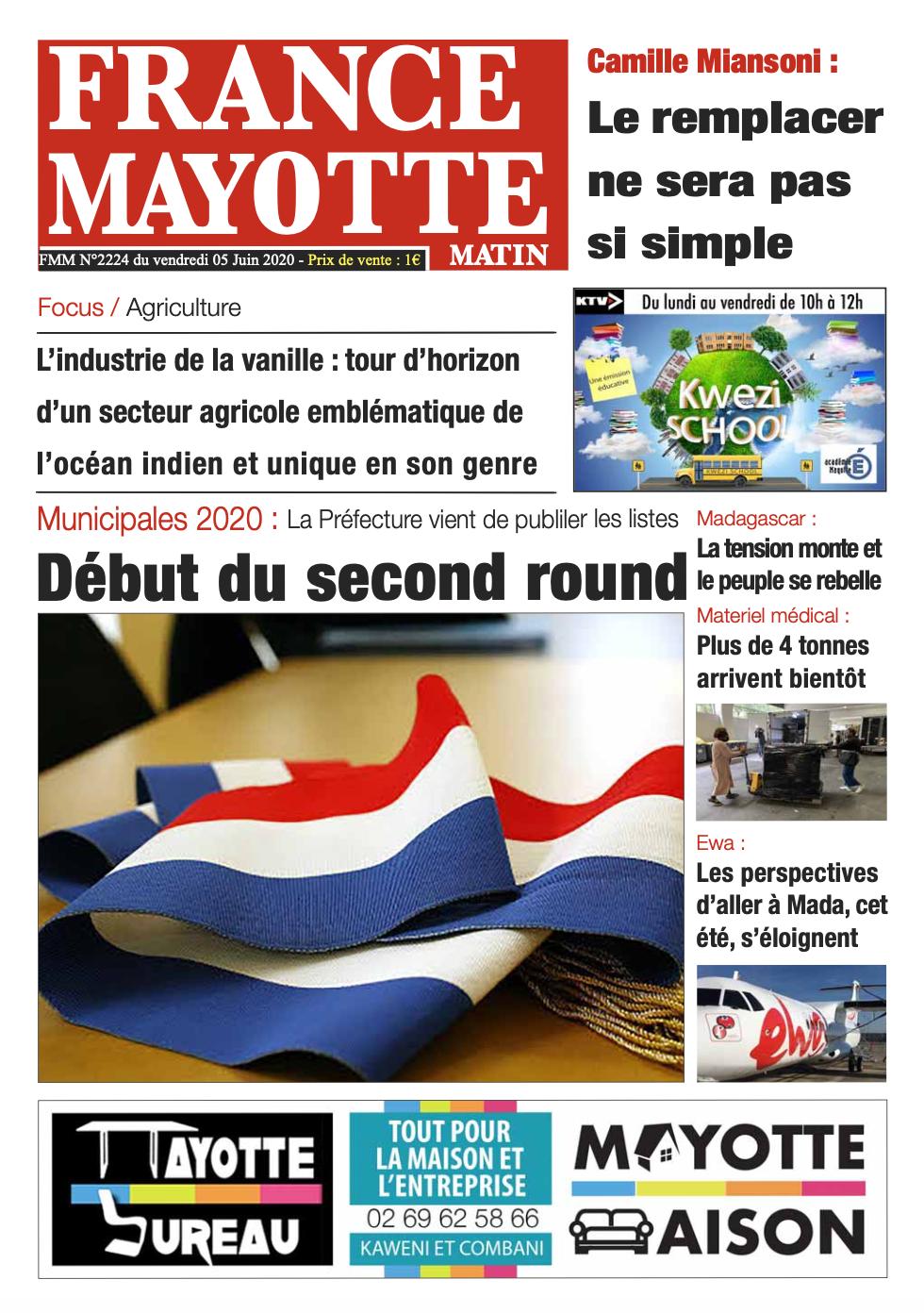France Mayotte Vendredi 5 juin 2020