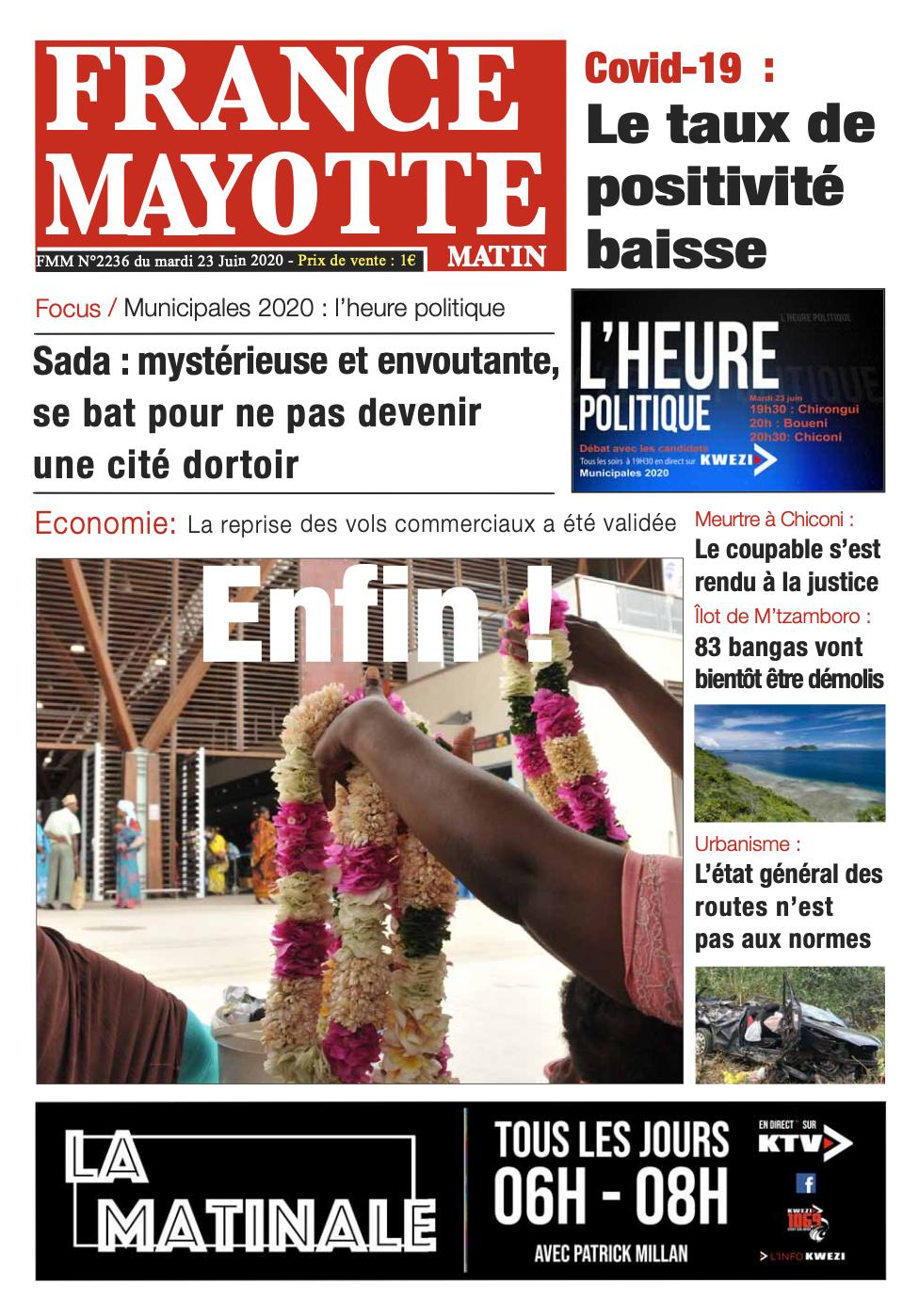 France Mayotte Mardi 23 juin 2020