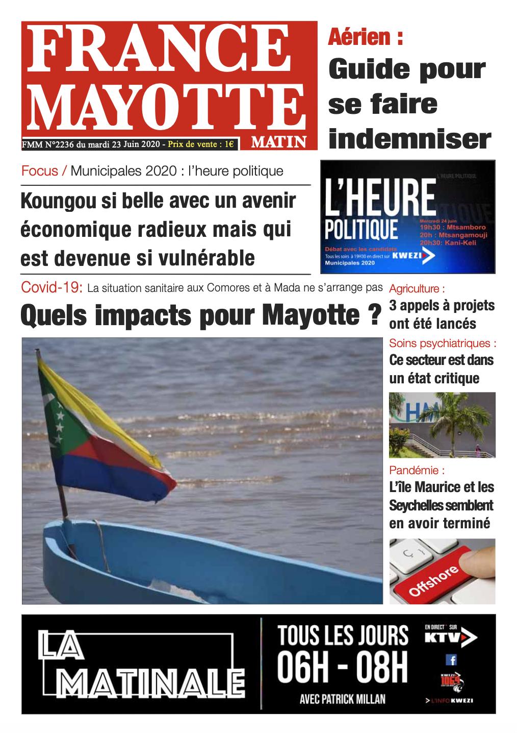 France Mayotte Mercredi 24 juin 2020