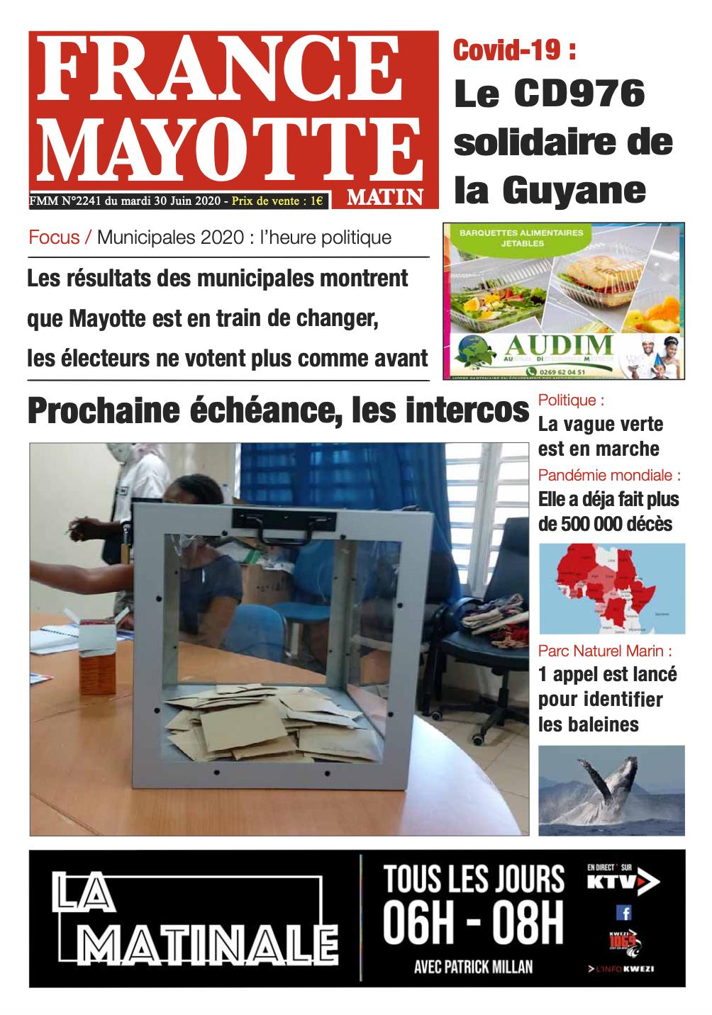 France Mayotte Mardi 30 juin 2020