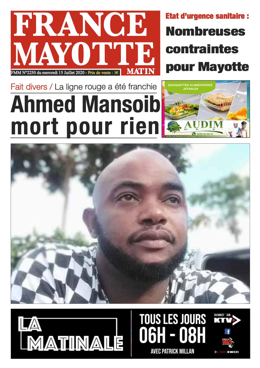 France Mayotte Mercredi 15 juillet 2020
