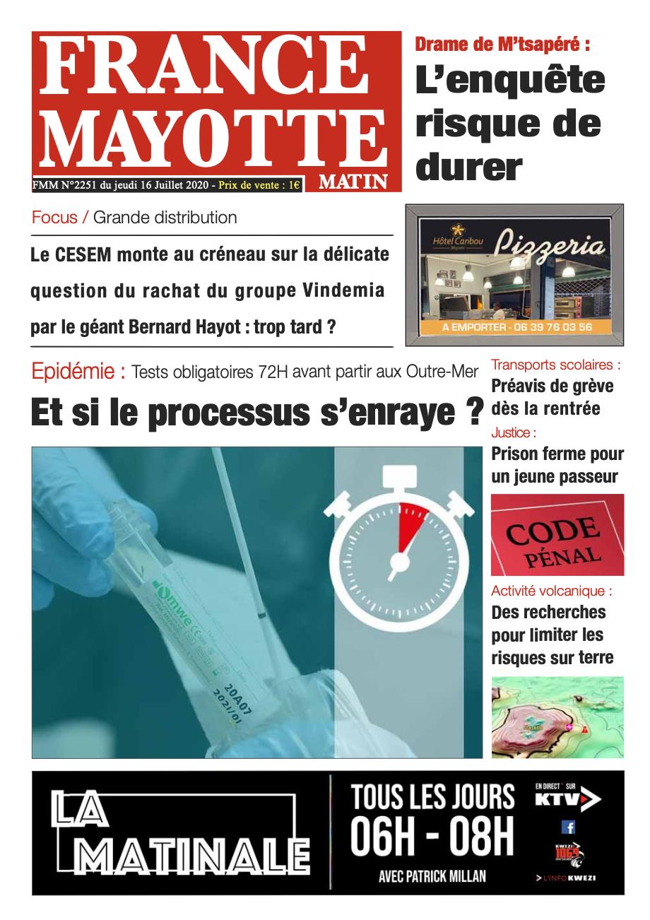 France Mayotte Jeudi 16 juillet 2020