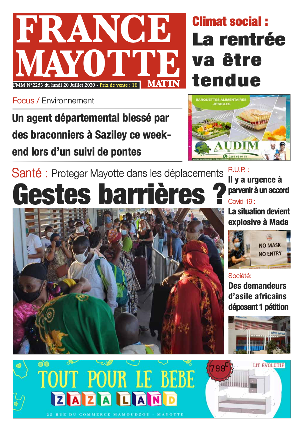 France Mayotte Lundi 20 juillet 2020