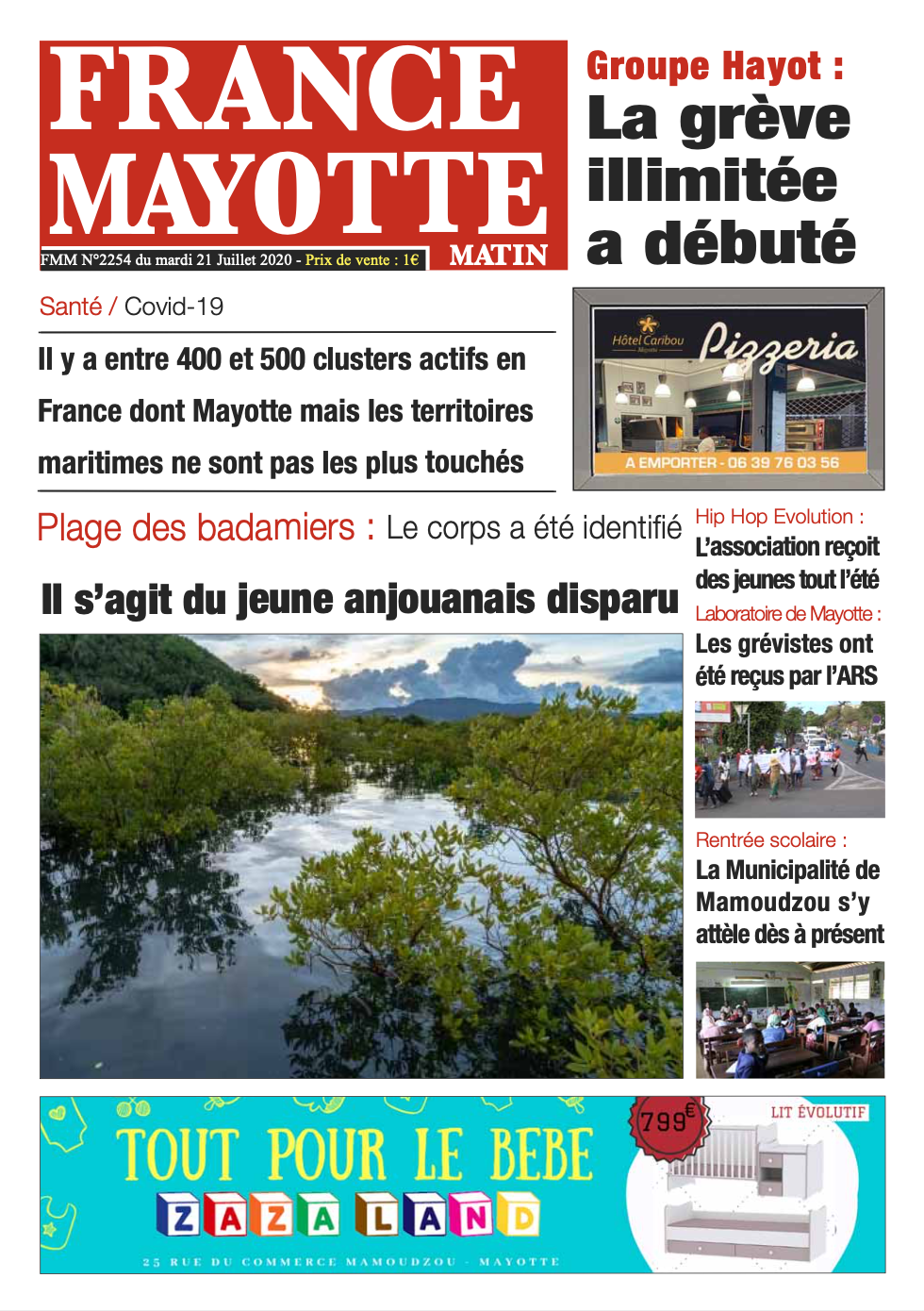 France Mayotte Mardi 21 juillet 2020