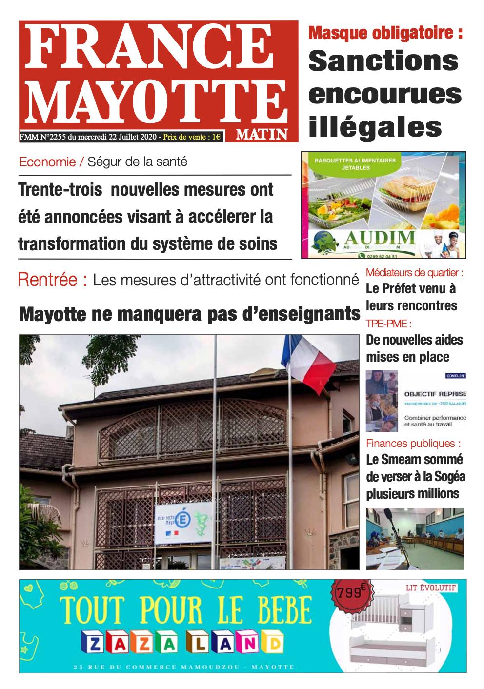 France Mayotte Mercredi 22 juillet 2020