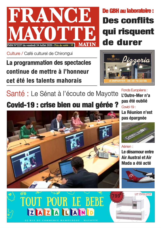 France Mayotte Vendredi 24 juillet 2020