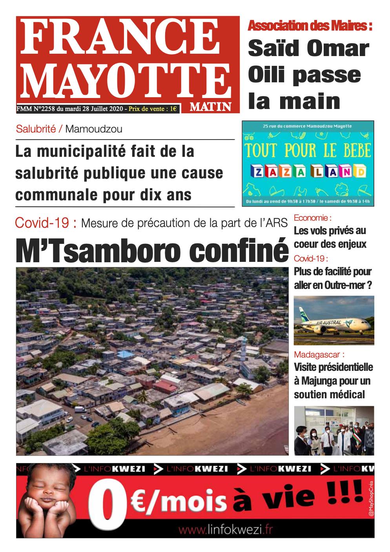 France Mayotte Mardi 28 juillet 2020