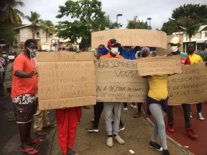Les demandeurs d'asile africains manifestaient pour l'amélioration de leurs conditions de vie