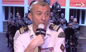 Après 2 ans de service le Lieutenant-Colonel Jardin tire sa révérence