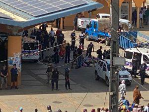 Opération de lutte contre les vendeurs à la sauvette Place de la République à Mamoudzou
