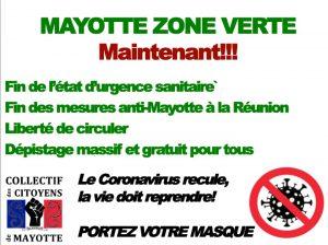 Le collectif des citoyens de Mayotte écrit aux autorités pour demander la liberté de circuler