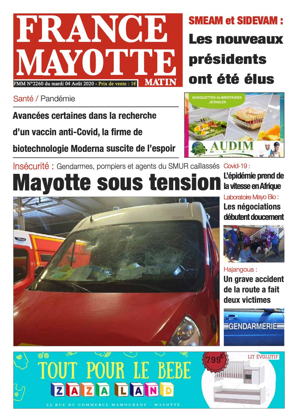 France Mayotte Mardi 4 août 2020