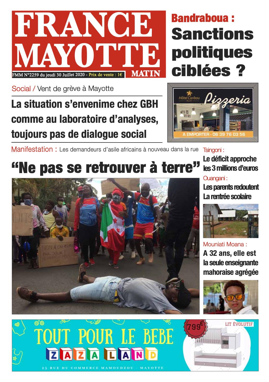 France Mayotte Jeudi 30 juillet 2020