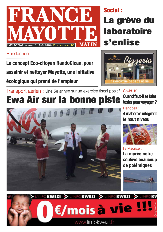 France Mayotte Mardi 11 août 2020