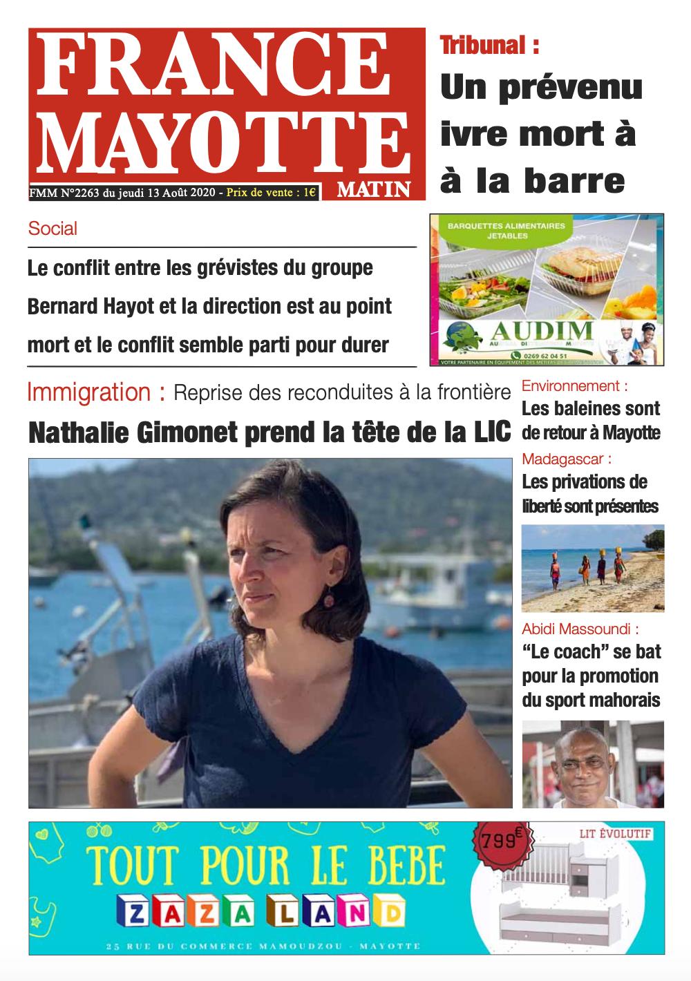 France Mayotte Jeudi 13 août 2020