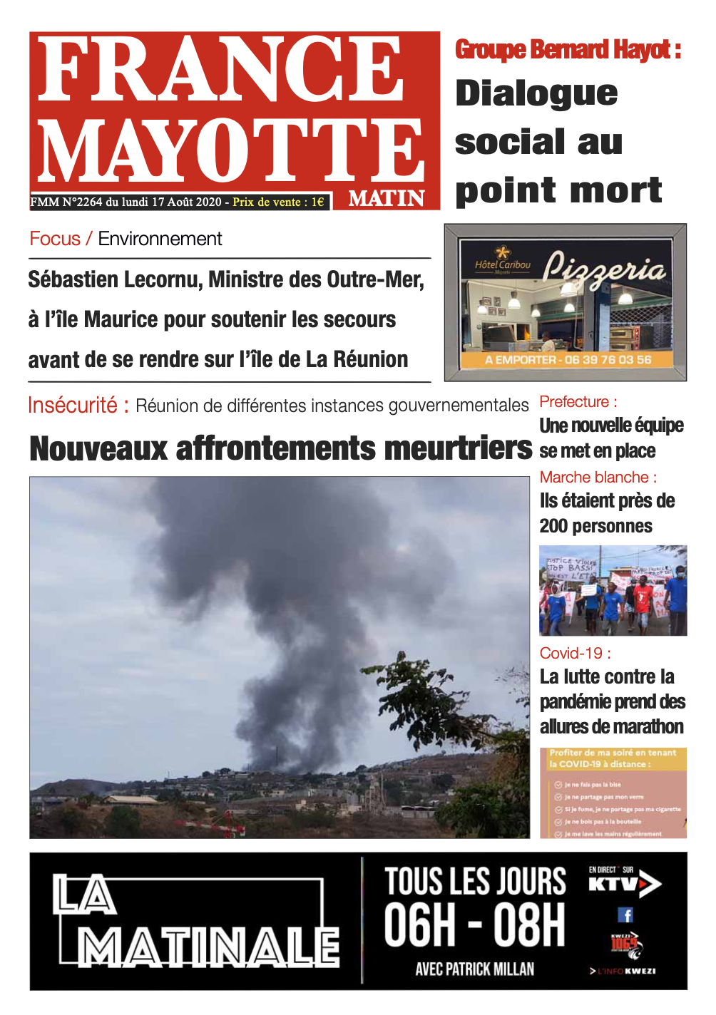 France Mayotte Lundi 17 août 2020