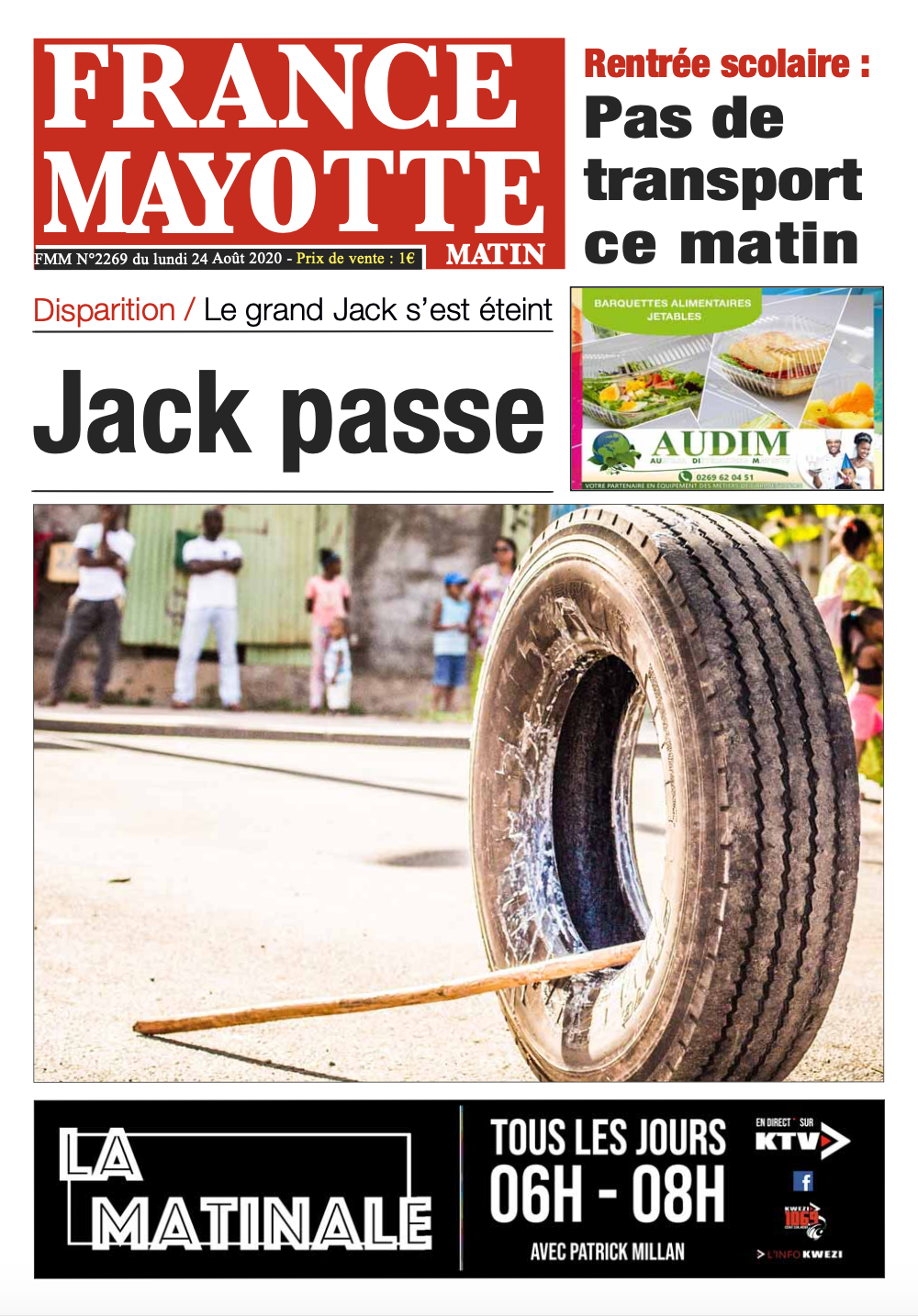 France Mayotte Lundi 24 août 2020