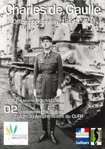 Prochaine conférence publique du CUFR : «Charles de Gaulle, officier et écrivain (1914-1940)»