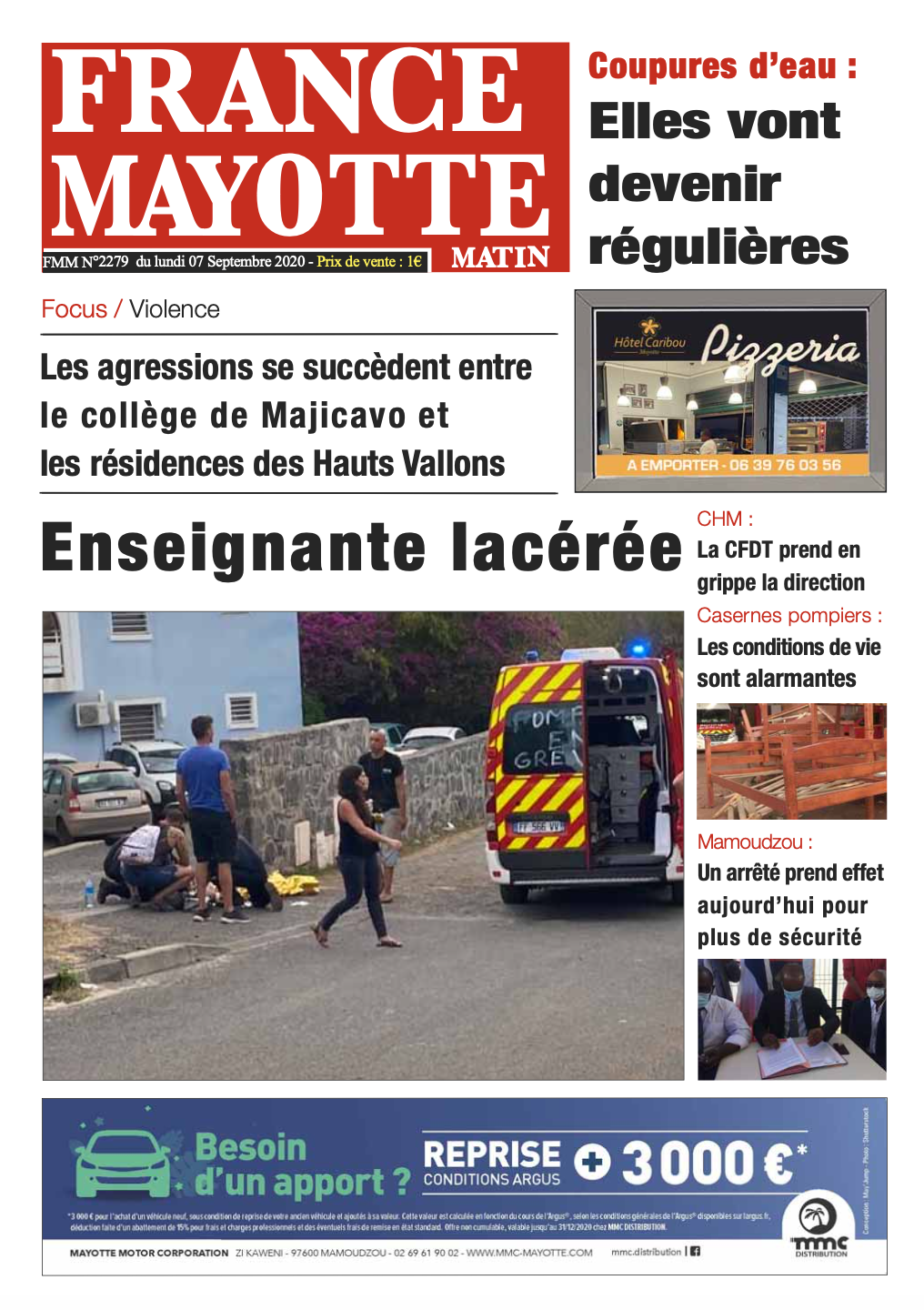 France Mayotte Lundi 7 septembre 2020