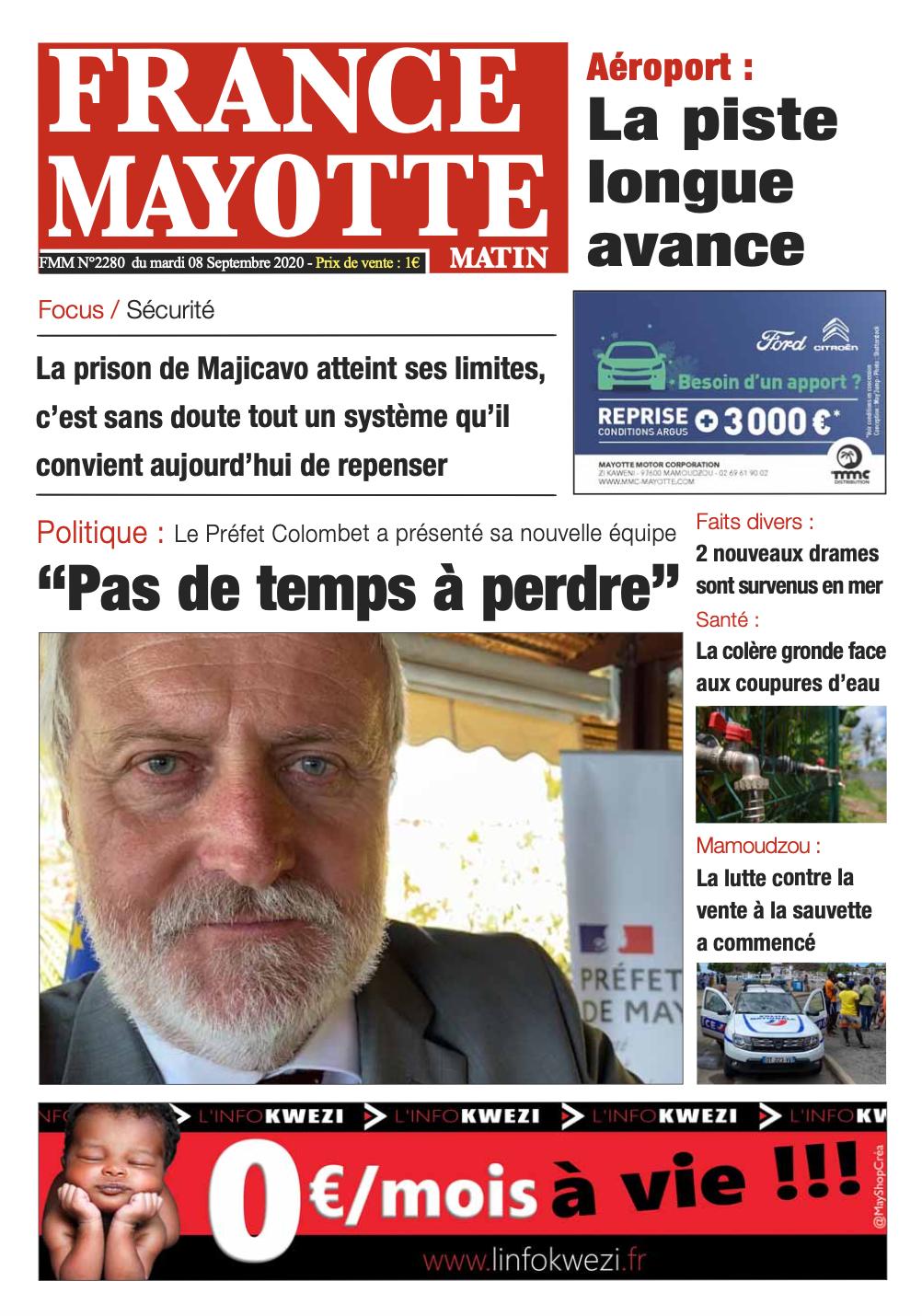 France Mayotte Mardi 8 septembre 2020