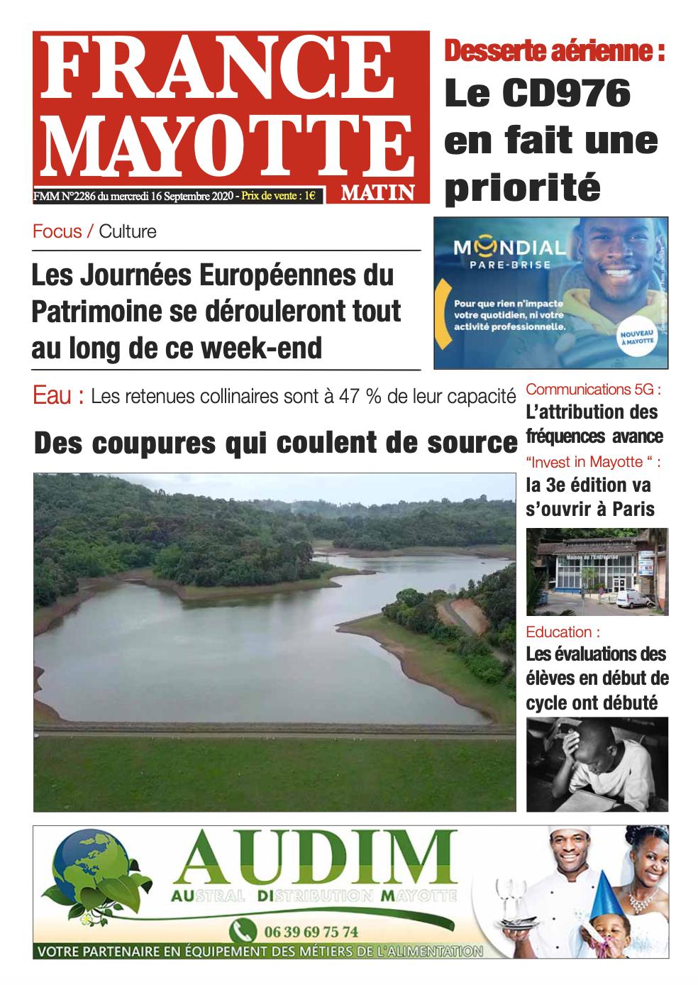 France Mayotte Mercredi 16 septembre 2020