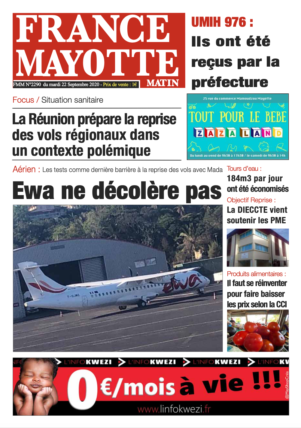 France Mayotte Mardi 22 septembre 2020