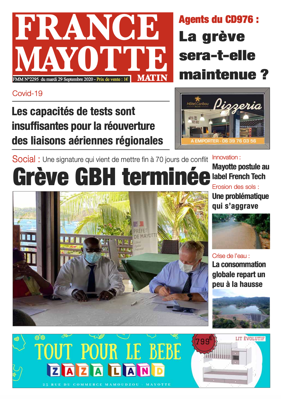 France Mayotte Mardi 29 septembre 2020
