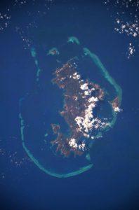 Mayotte vue de l'espace