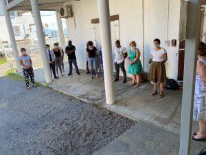 Les agents de la préfecture rendent hommage au gendarme disparu