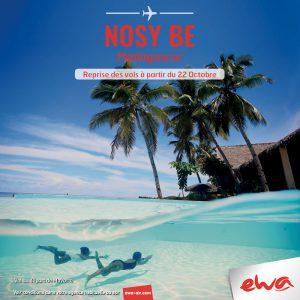 Les vols d'Ewa Air se confirment bien vers Nosy Bé