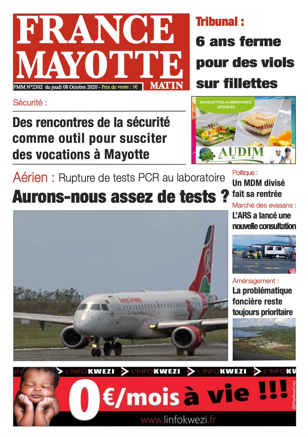 France Mayotte Jeudi 8 octobre 2020