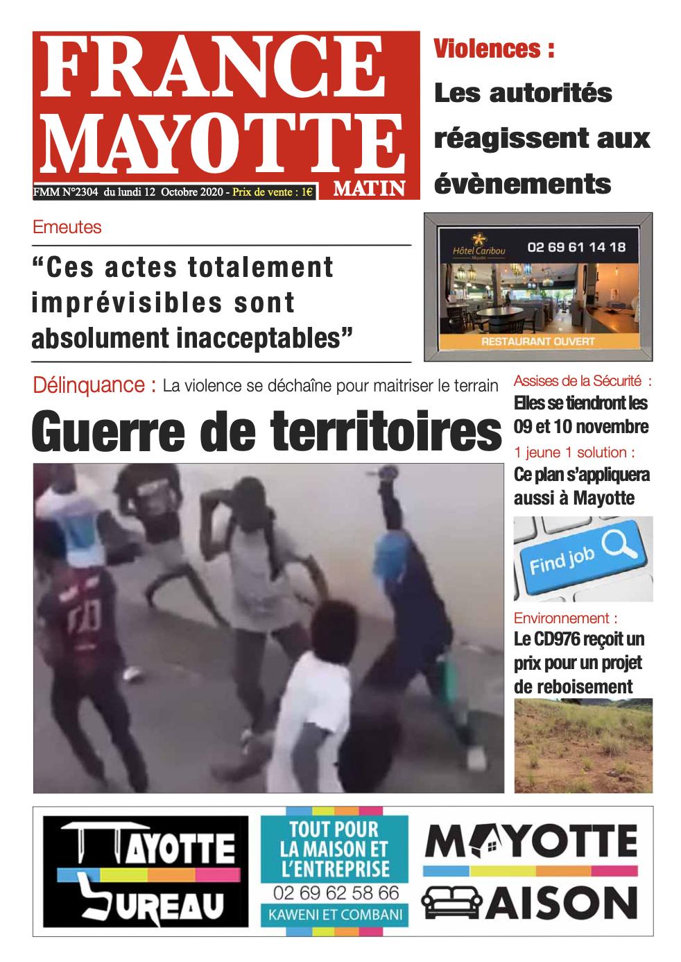 France Mayotte Lundi 12 octobre 2020