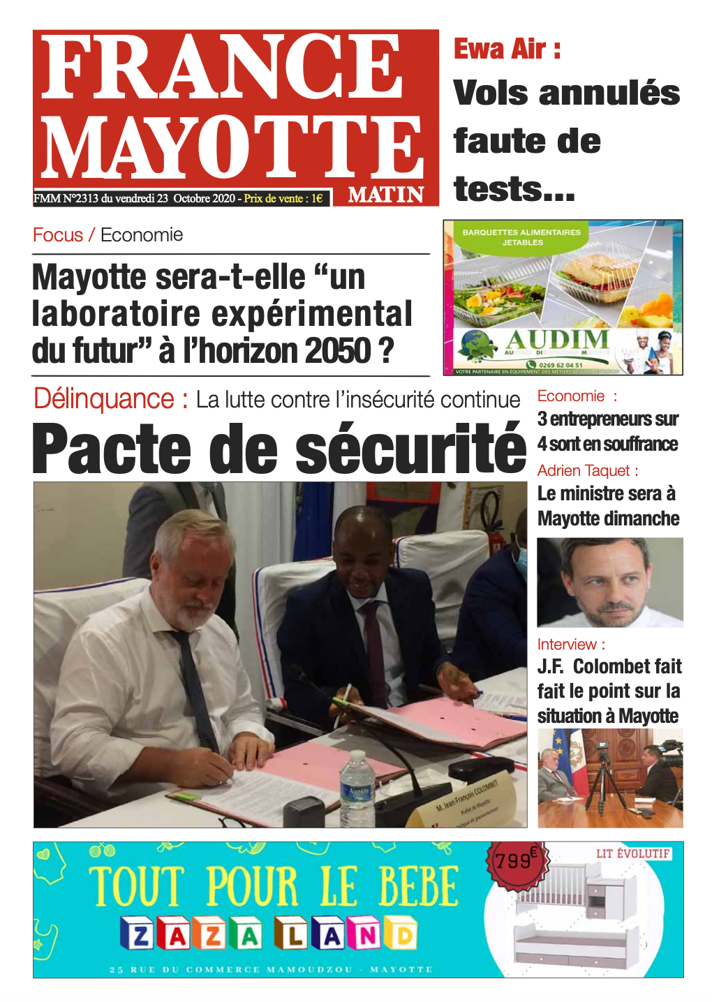France Mayotte Vendredi 23 octobre 2020