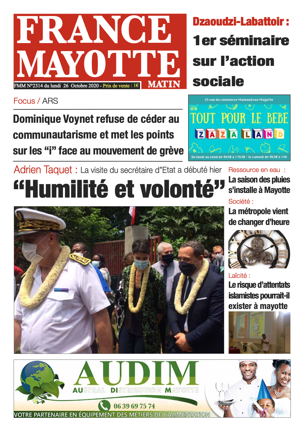 France Mayotte Lundi 26 octobre 2020