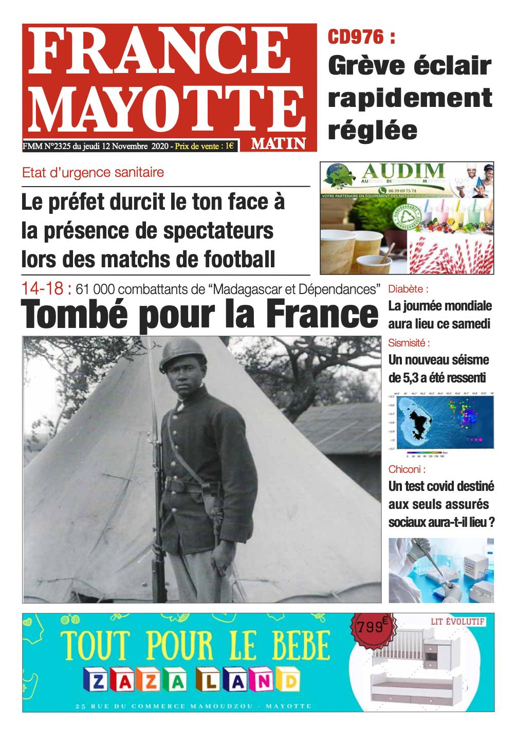 France Mayotte Jeudi 12 novembre 2020