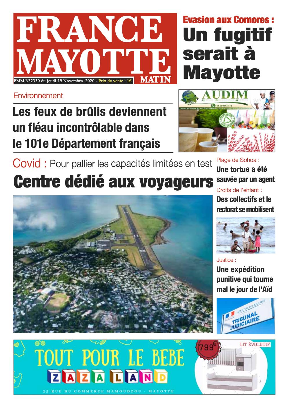 France Mayotte Jeudi 19 novembre 2020