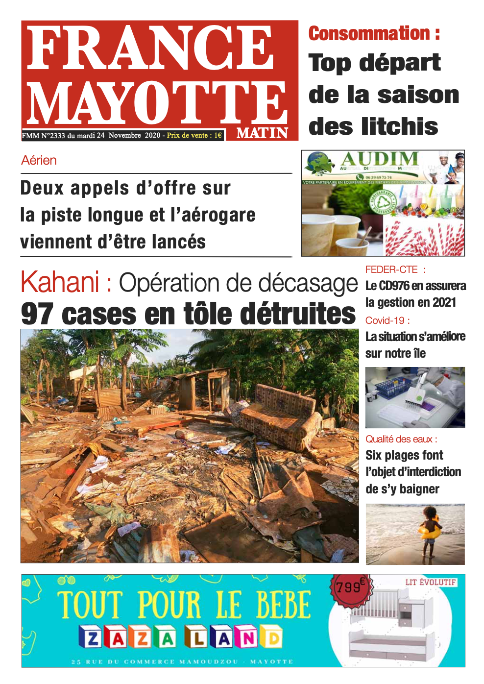 France Mayotte Mardi 24 novembre 2020