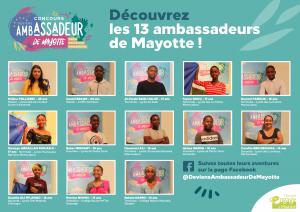 13 jeunes mahorais lauréats du concours «Ambassadeurs de Mayotte»