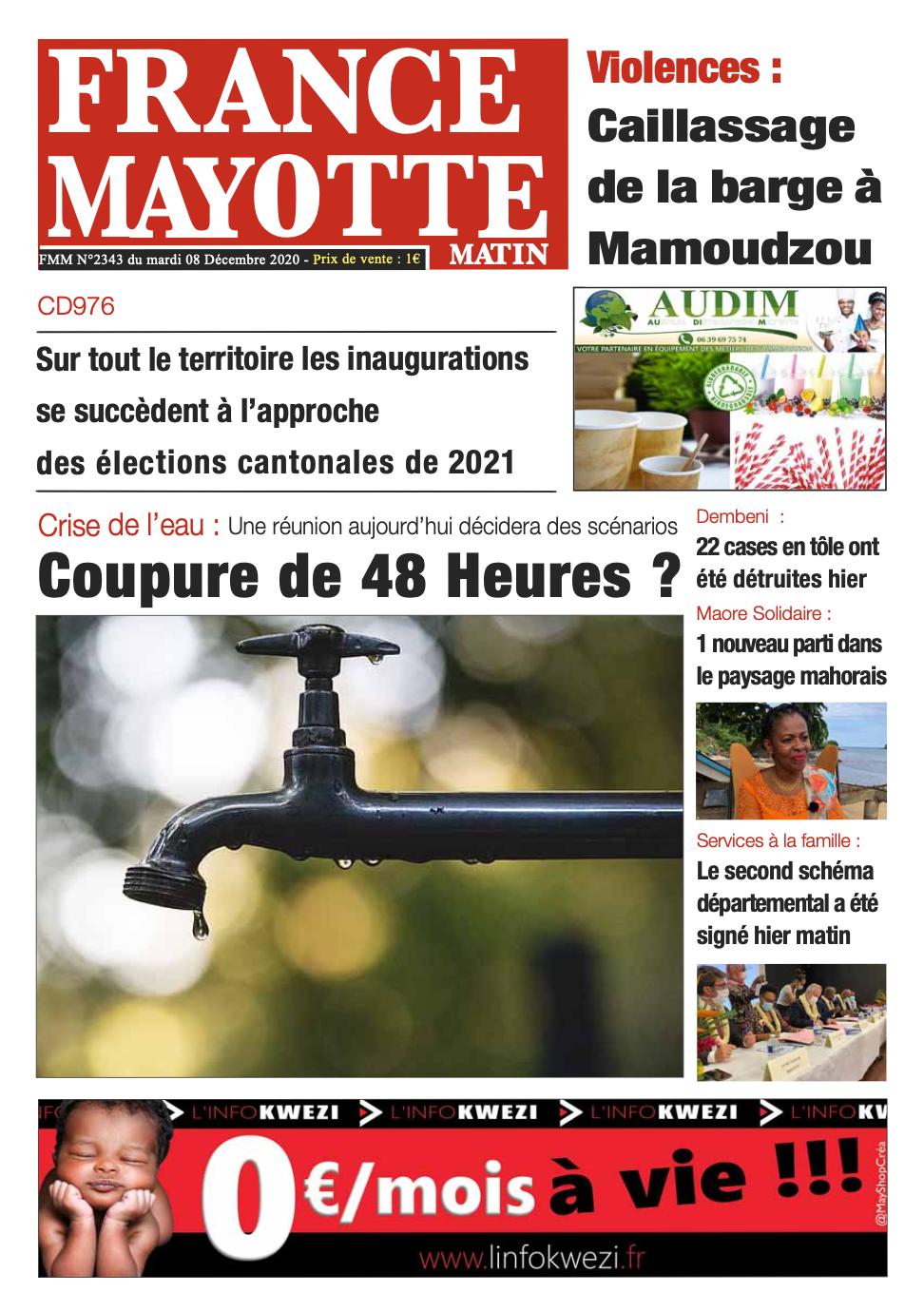 France Mayotte Mardi 8 décembre 2020