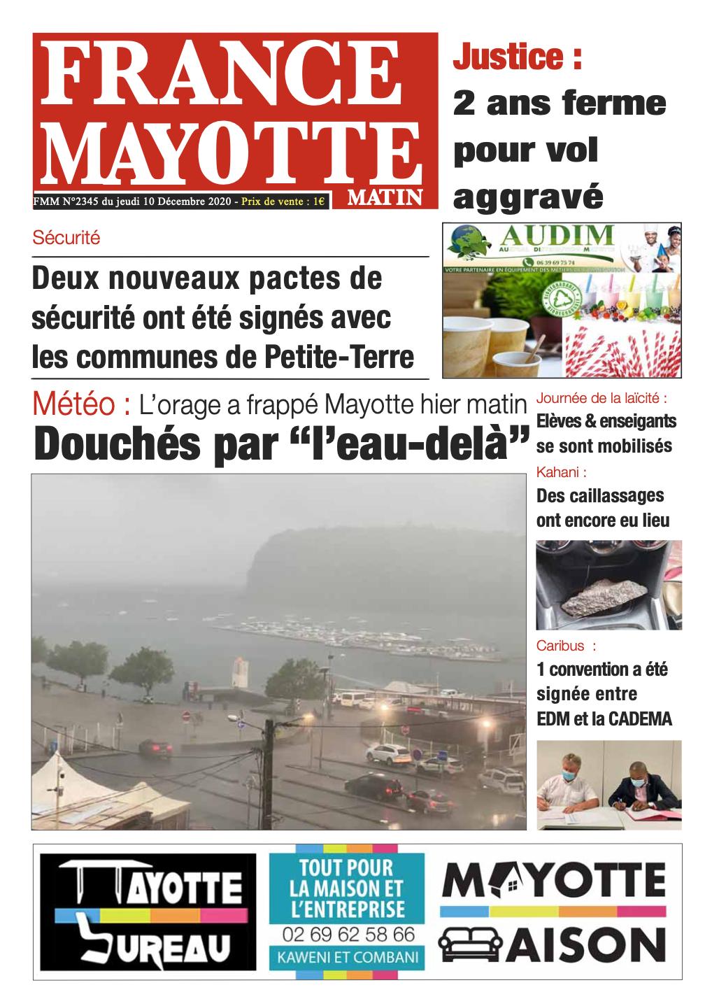 France Mayotte Jeudi 10 décembre 2020