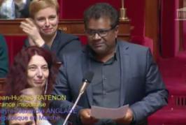 Jean-Hugues Ratenon, député de la Réunion, interpelle l'Etat sur Mayotte