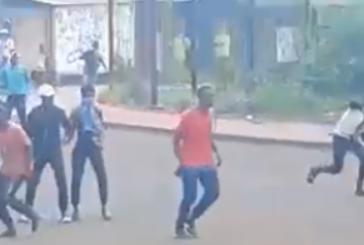 Violents caillassages en cours à Kahani (vidéo)
