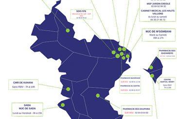 Carte des centres de vaccination du 13 au 18 septembre
